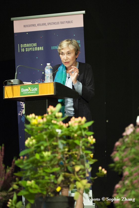 Julia Kristeva, prix Saint Simon, photo Sophie Zhang, 2017