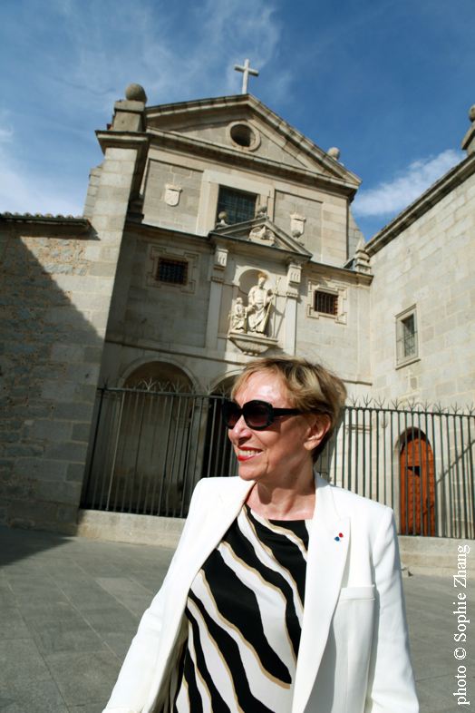 Julia Kristeva à Avila, photo Sophie Zhang